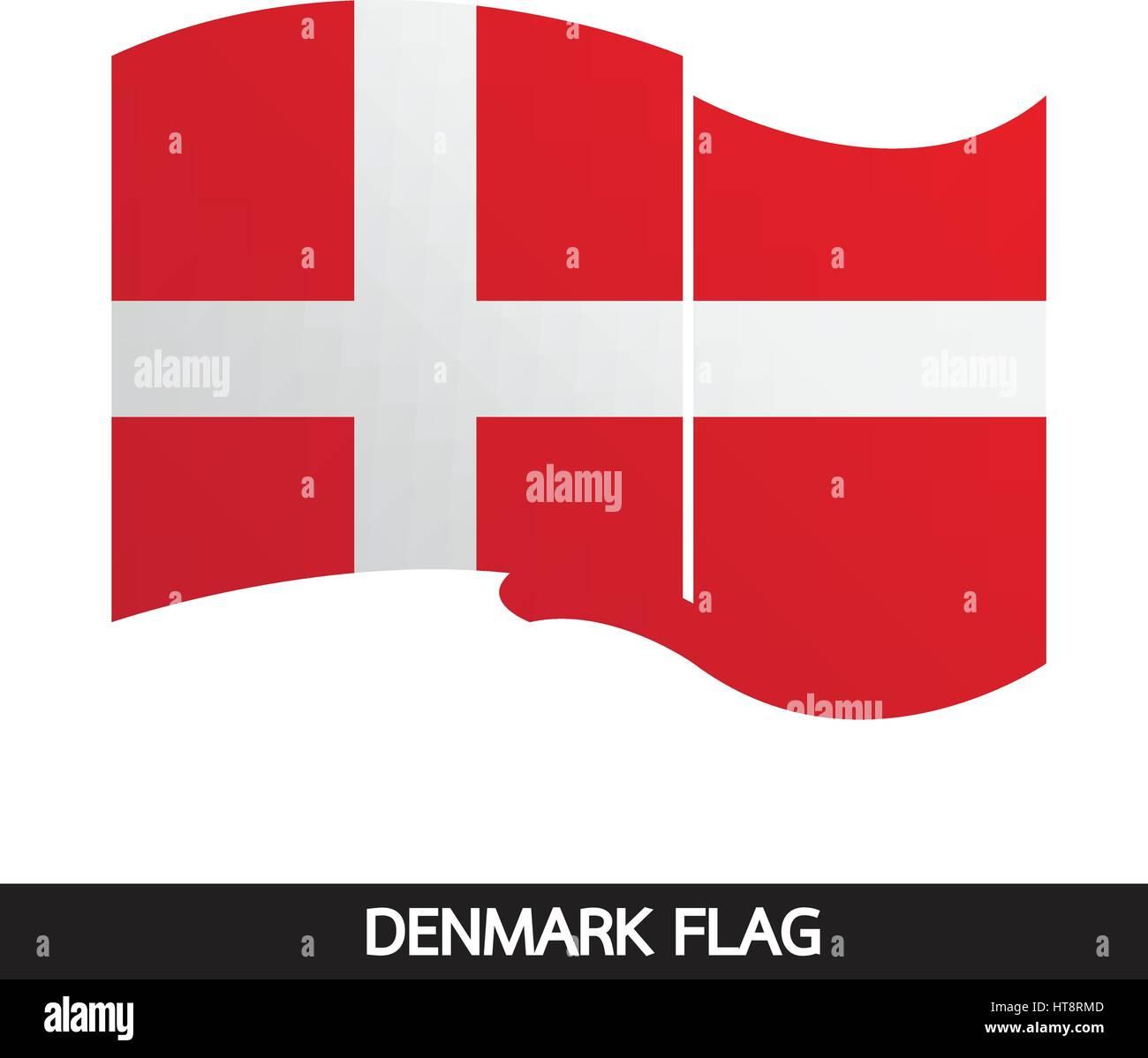Denmark flag design illustration - Stock Image