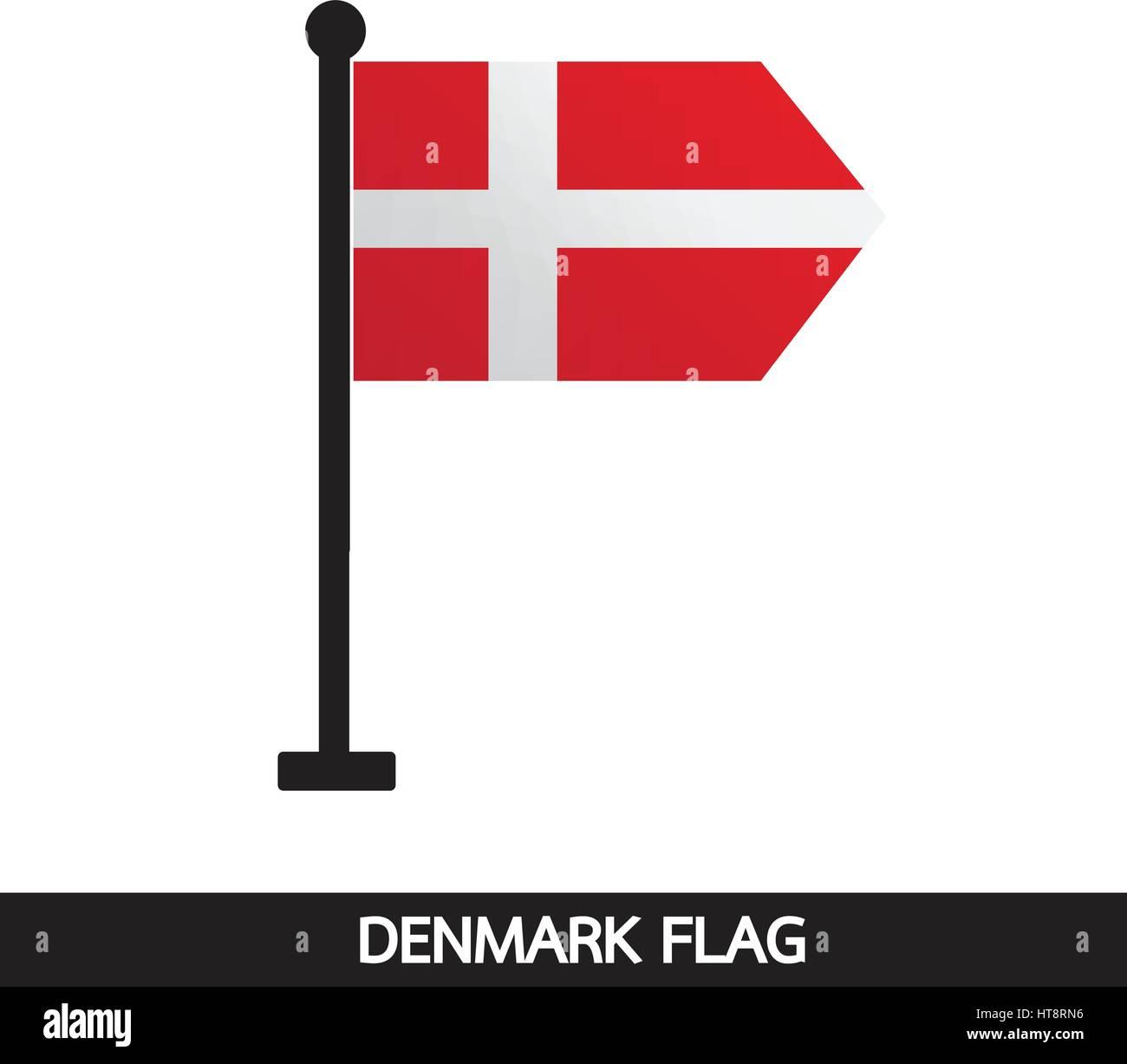 Denmark flag design illustration - Stock Vector