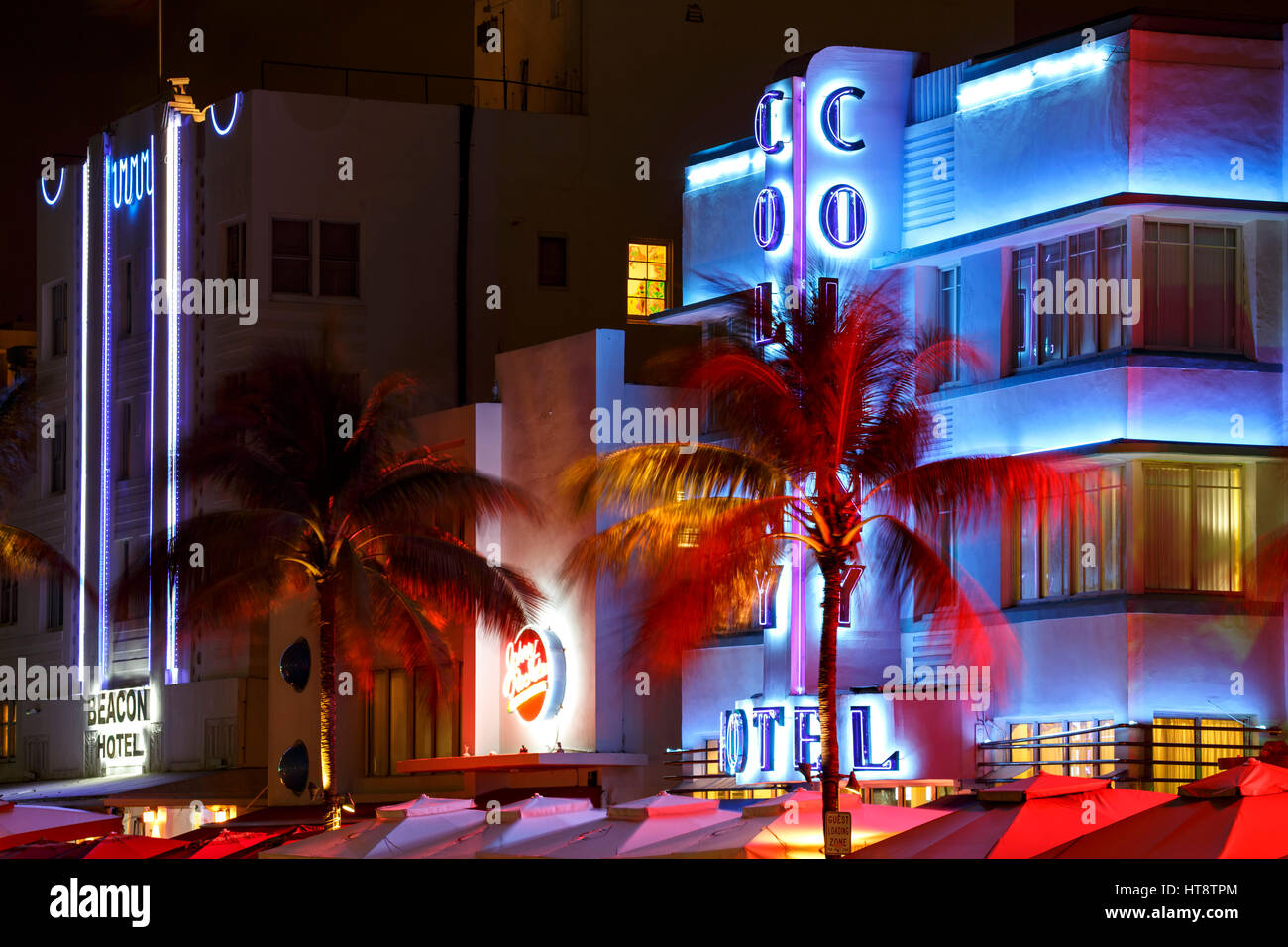 Colony Hotel, South Beach, Miami Beach, Florida - Stock Image