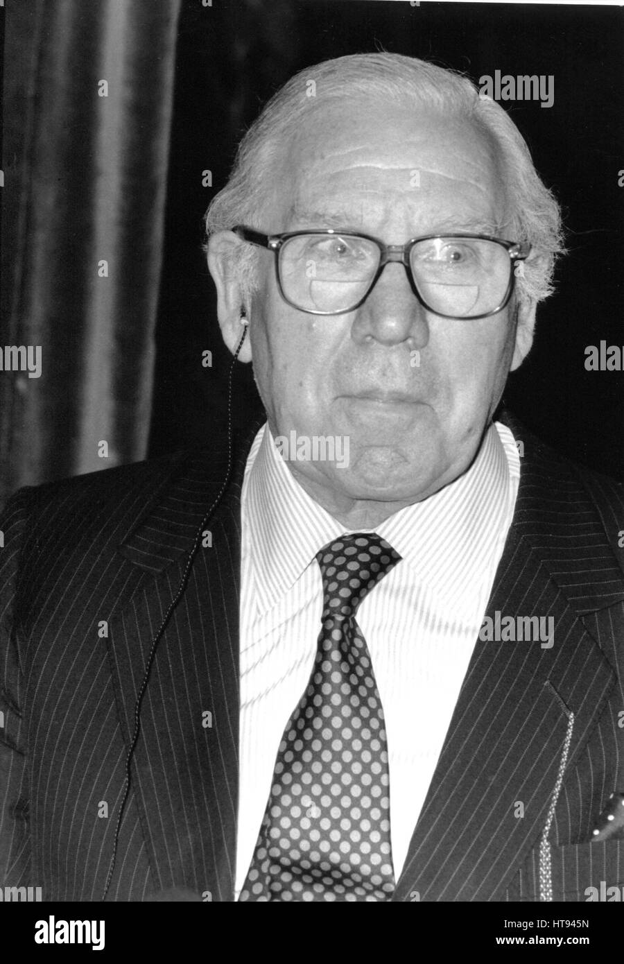 Lord King of Wartnaby (John), Chairman of British Airways, holds a press conference in London, England on May 21, - Stock Image