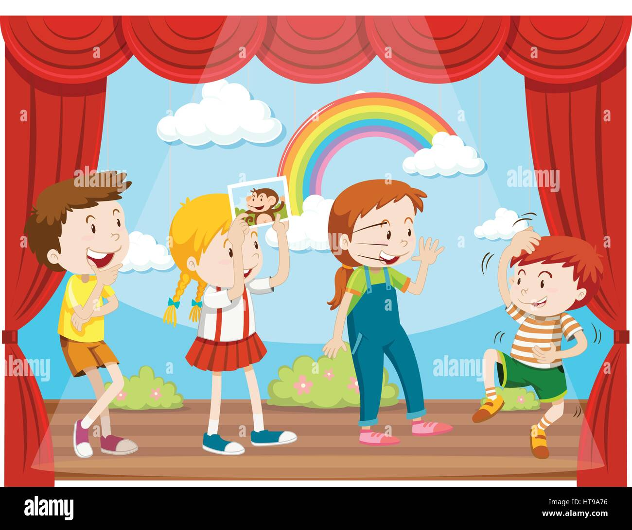 Royalty Free Hamlet Play Clip Art, Vector Images ...  |Acting On Stage Cartoon