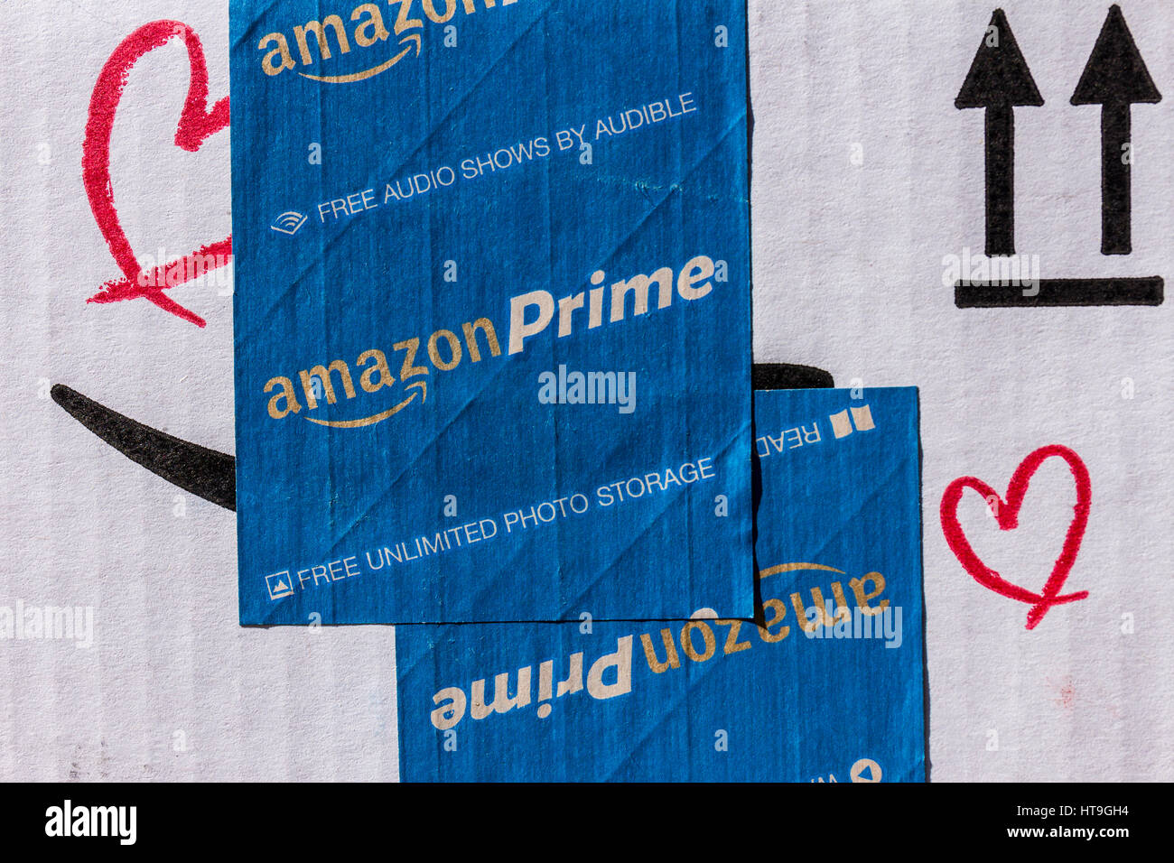 168426b35 Indianapolis - Circa March 2017: Amazon Prime Parcel Package. Amazon.com is  a