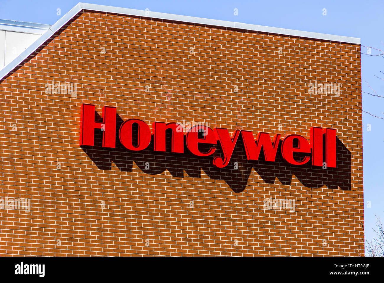 Muncie - Circa March 2017: Honeywell International Maxon Factory. Maxon makes Industrial Burners and Combustion Stock Photo
