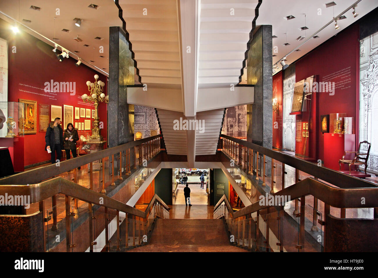 Inside the Budapest History Museum located in the Royal Palace, Buda castle, Budapest, Hungary Stock Photo