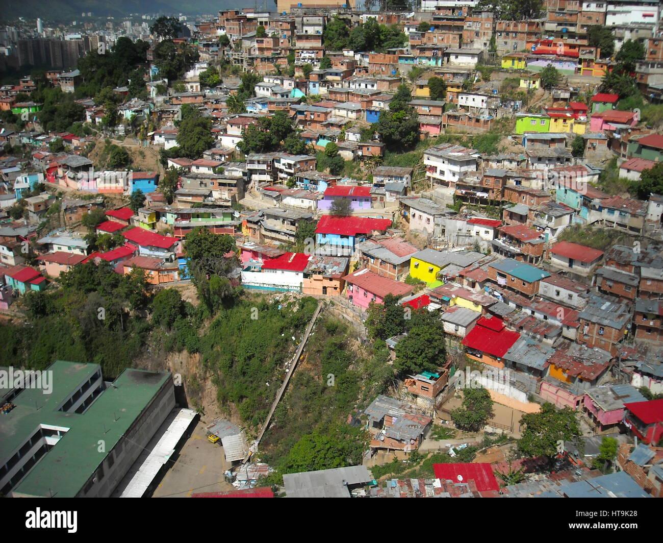 SLUMS, VENEZUELA, CARACAS, SAN AGUSTIN - Stock Image