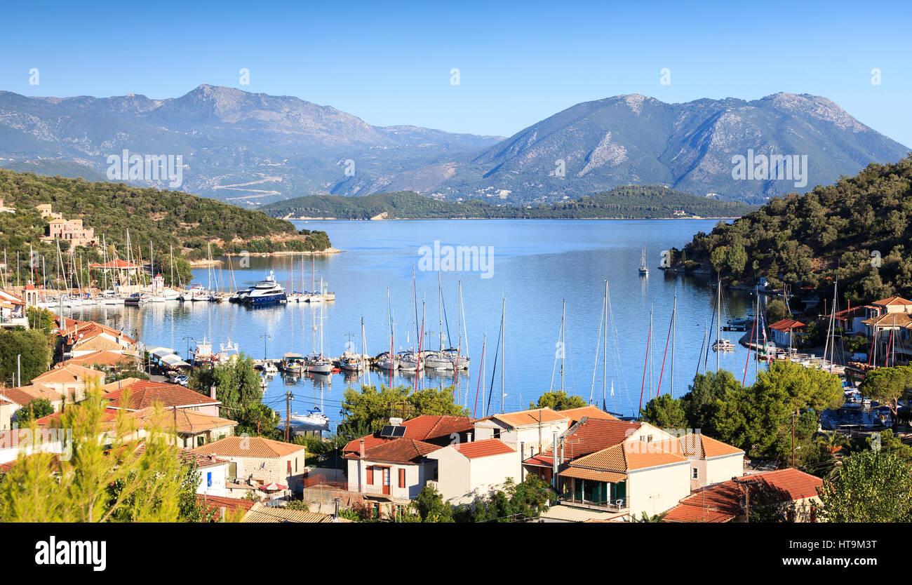 Vathi, Meganissi, Greece - Stock Image