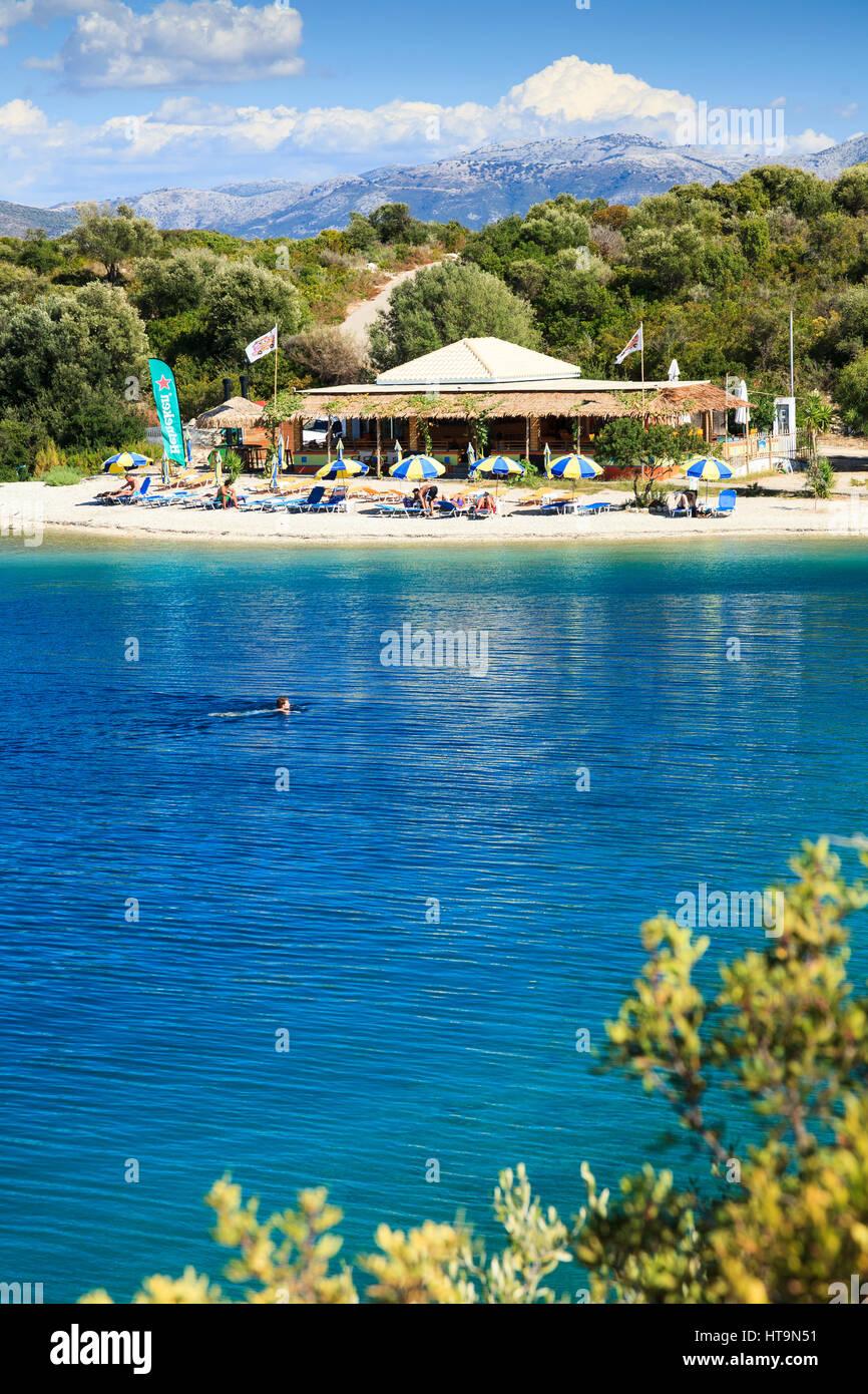 Fanari Beach, Meganissi, Greece - Stock Image