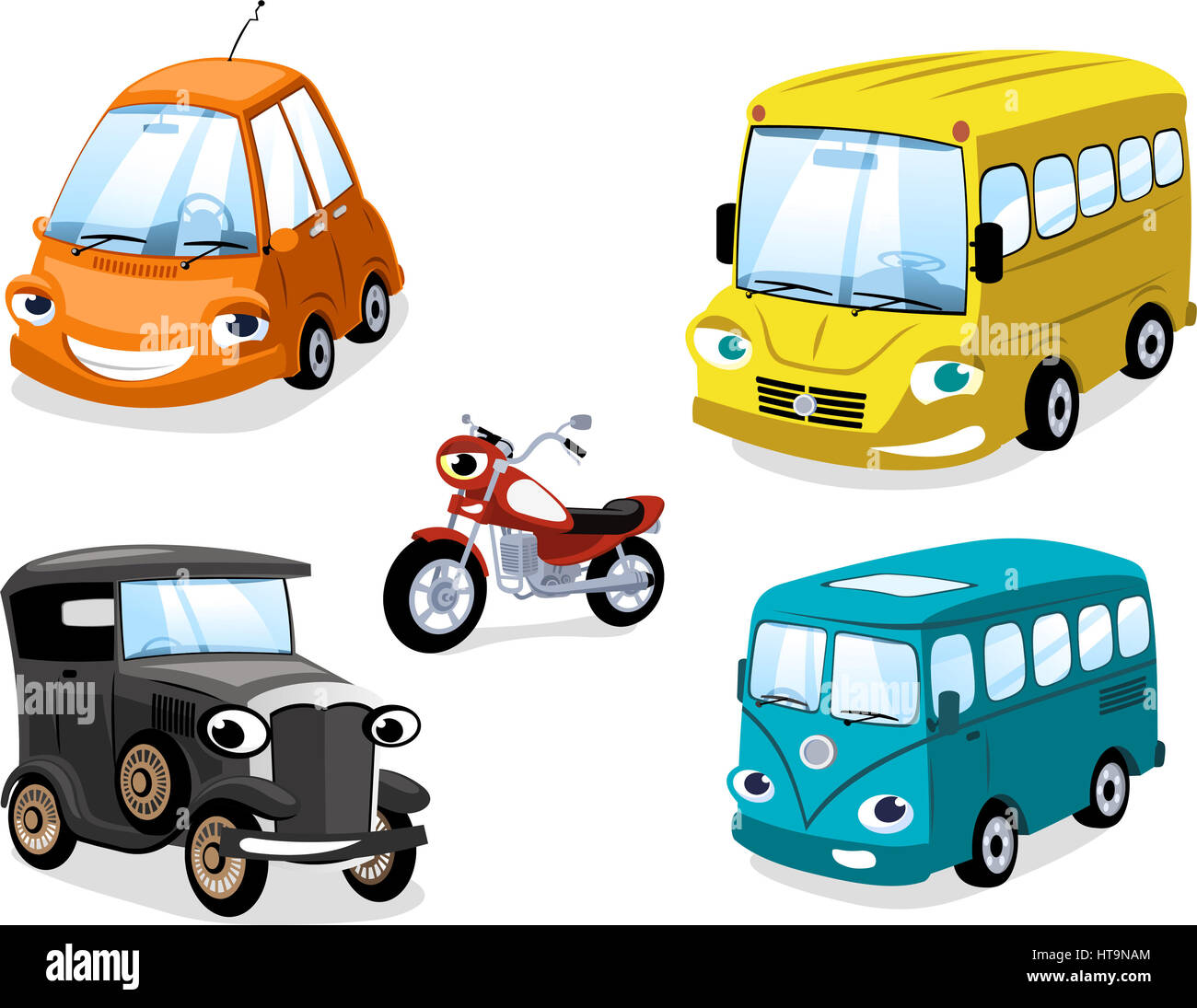 Transportation means car truk bus motorcycle types with bus stock transportation means car truk bus motorcycle types with bus motorbike truck race car wagon antique car and eco car altavistaventures Gallery
