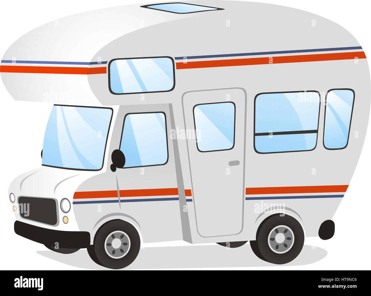 mobile home motorhome caravan trailer vehicle vector. Black Bedroom Furniture Sets. Home Design Ideas