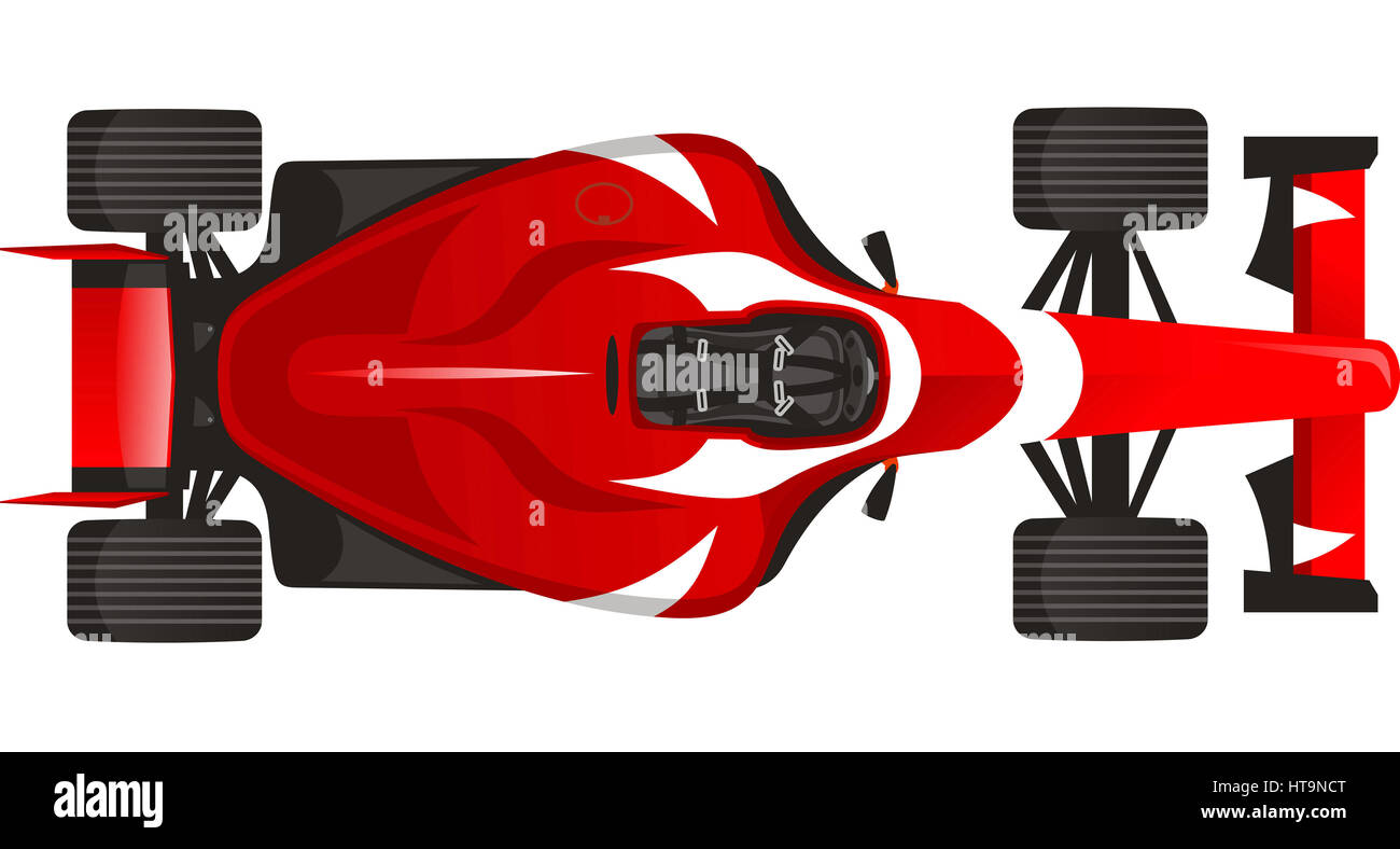 Sports F1 Racing Car With Red Vector Illustration Stock Photo Alamy