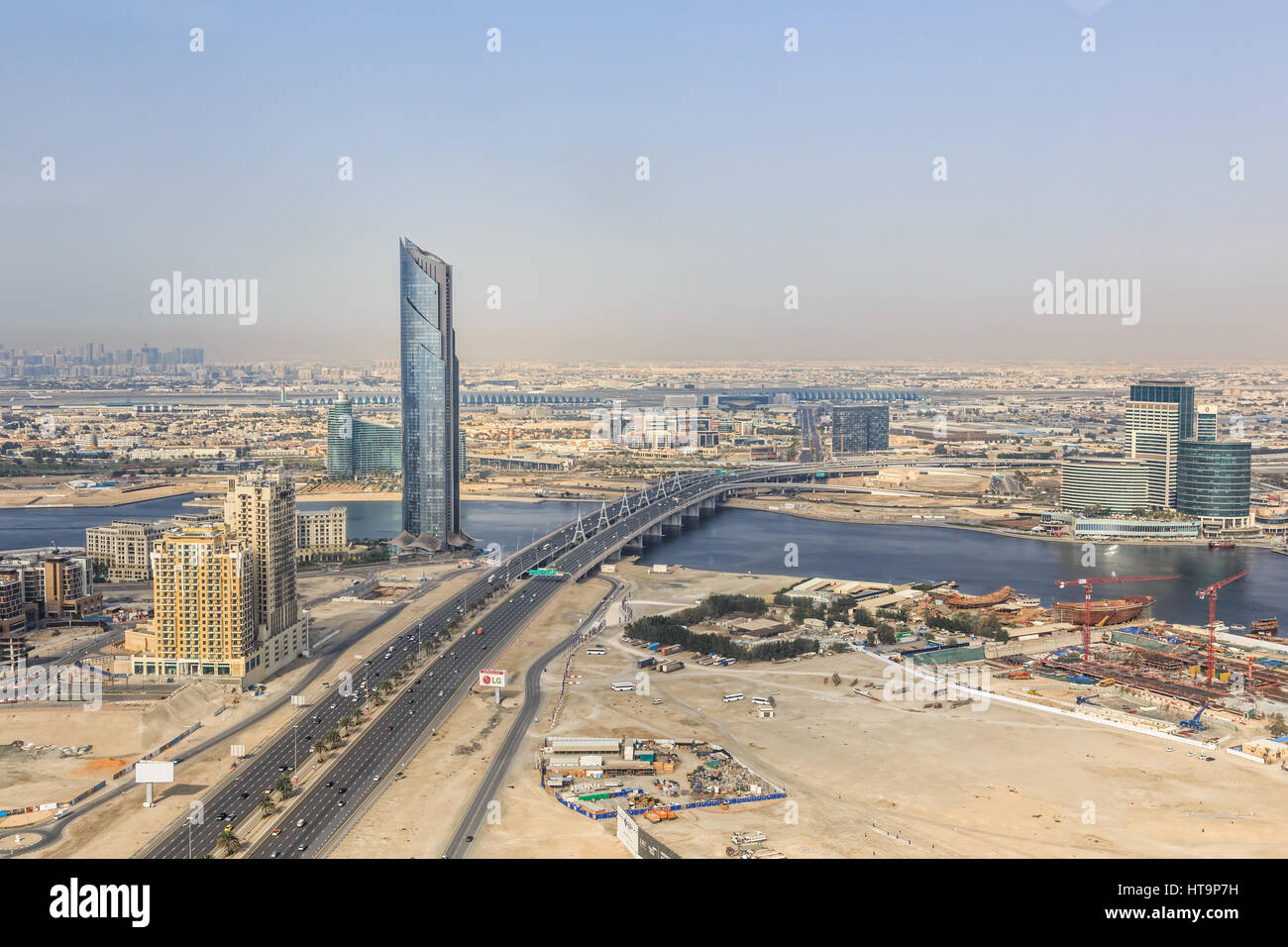 Dubai/UAE March 9, 2017: Airbus A330 from Swis landing at Dubai Airport. - Stock Image