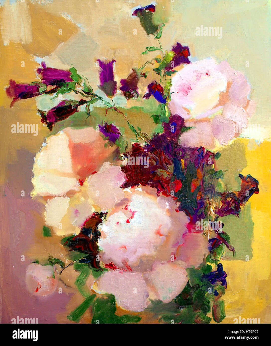Oil painting of the beautiful flowers stock photo 135439479 alamy oil painting of the beautiful flowers izmirmasajfo