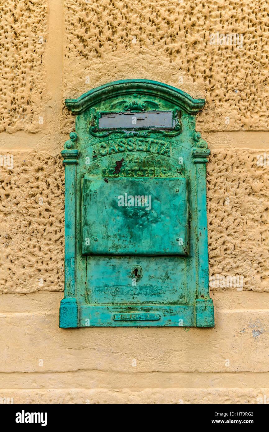 Italy Friuli Dolomiti Friulane natural Park Valcellina - The village of Casso - mailbox Stock Photo