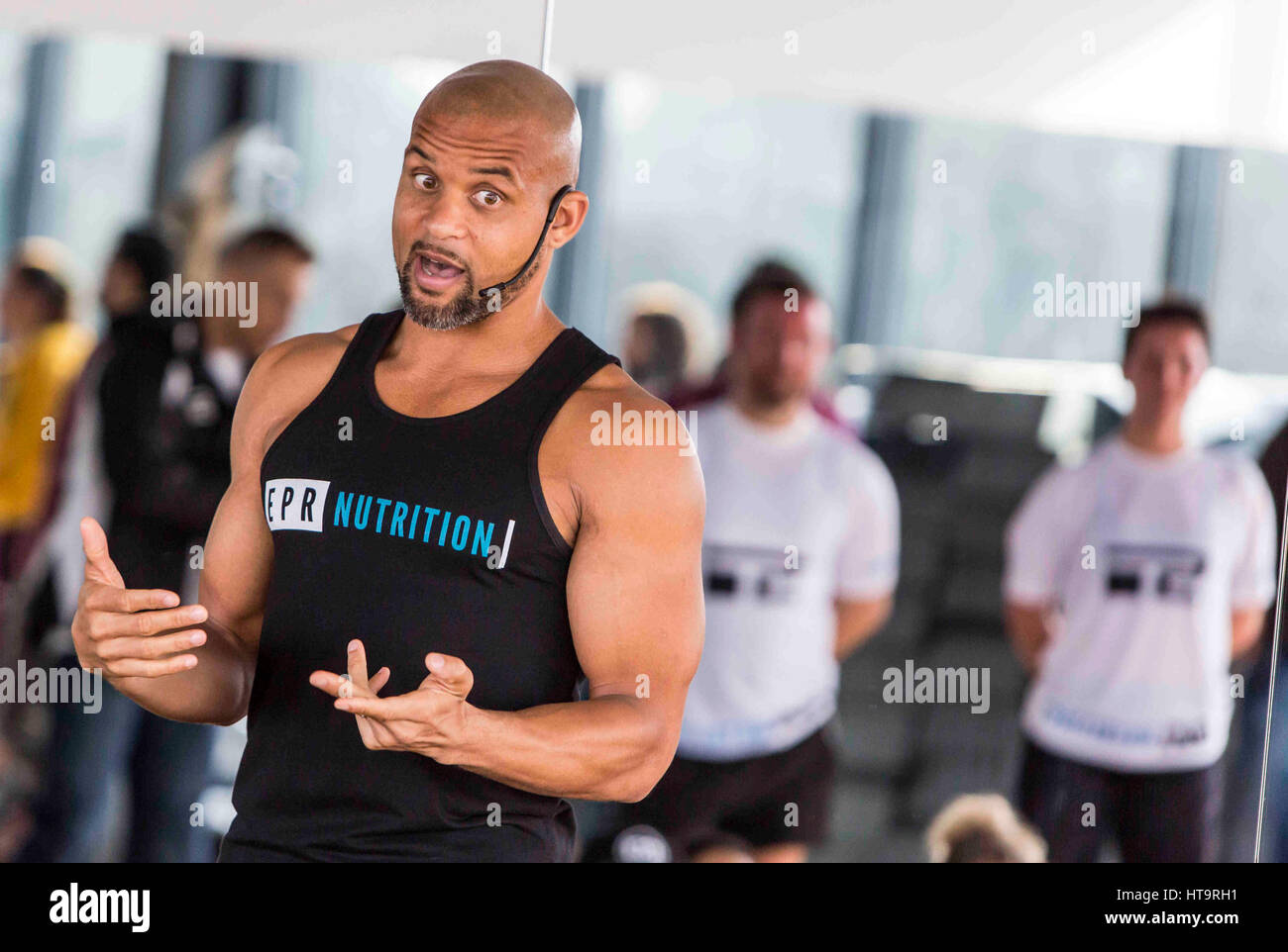 Shaun T , International fitness celebrity visits  Hale Country Club , England - Stock Image