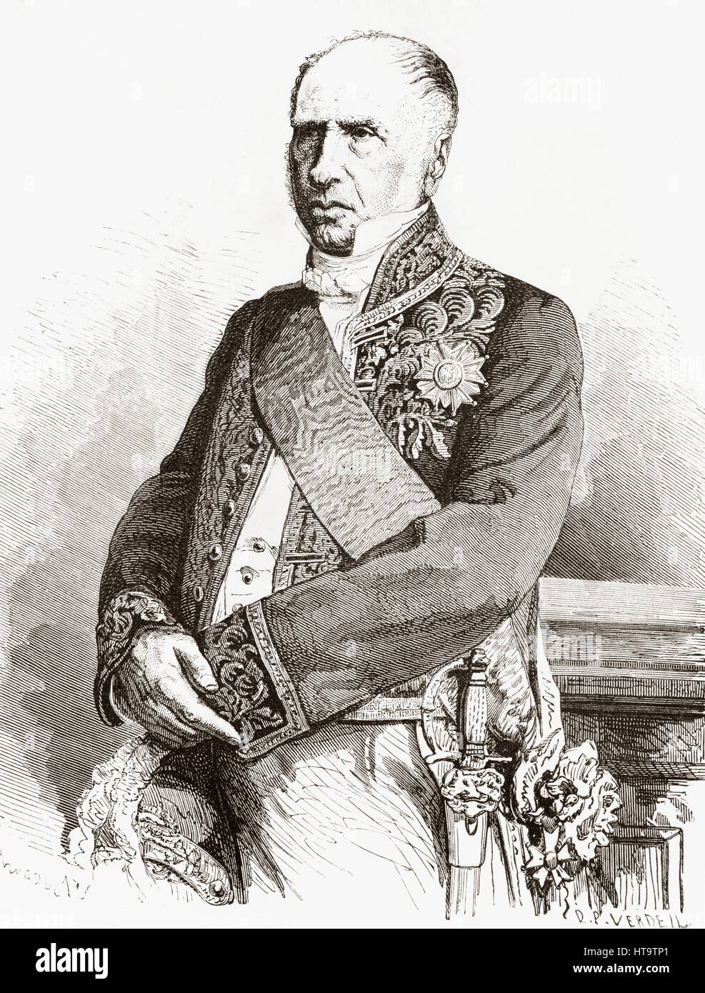 André Marie Jean Jacques Dupin, 1783 –1865, aka Dupin the Elder. French advocate, president of the chamber - Stock Image