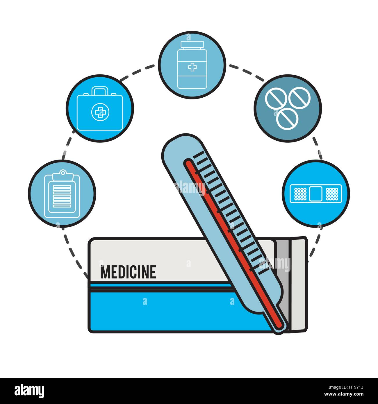 hospital tools and first aid icon Stock Vector Art & Illustration ...