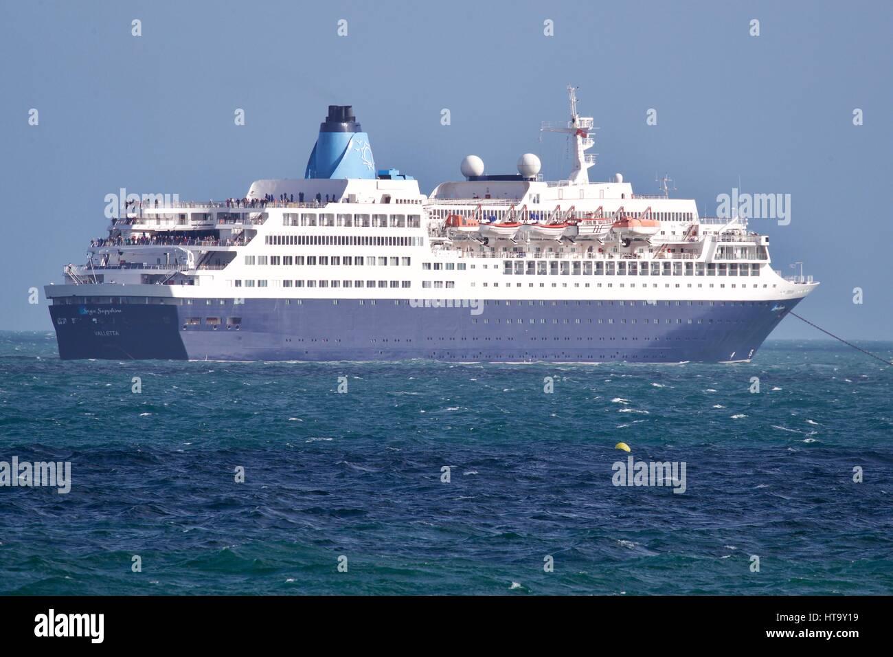 MS Saga Sapphire cruise ship - Stock Image