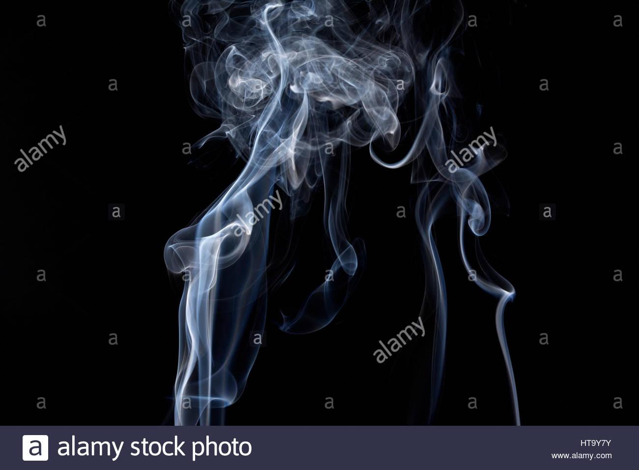 smoke photograph - Stock Image