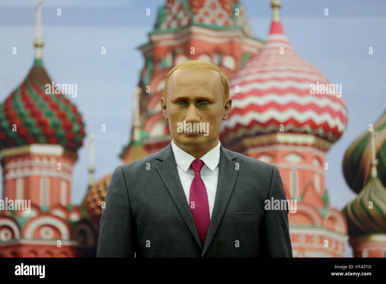 Shenyan, China. 9th Mar, 2017. A wax figure of Vladimir Putin at an expo in Shenyang, northeast China. Wax figures - Stock Image