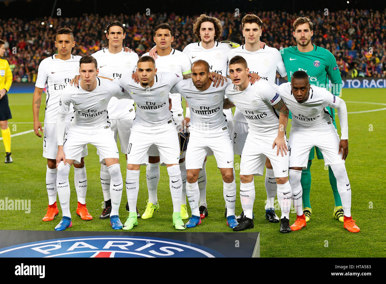 8th Mar 2017 Paris Saint Germain Team Group PSG March 8