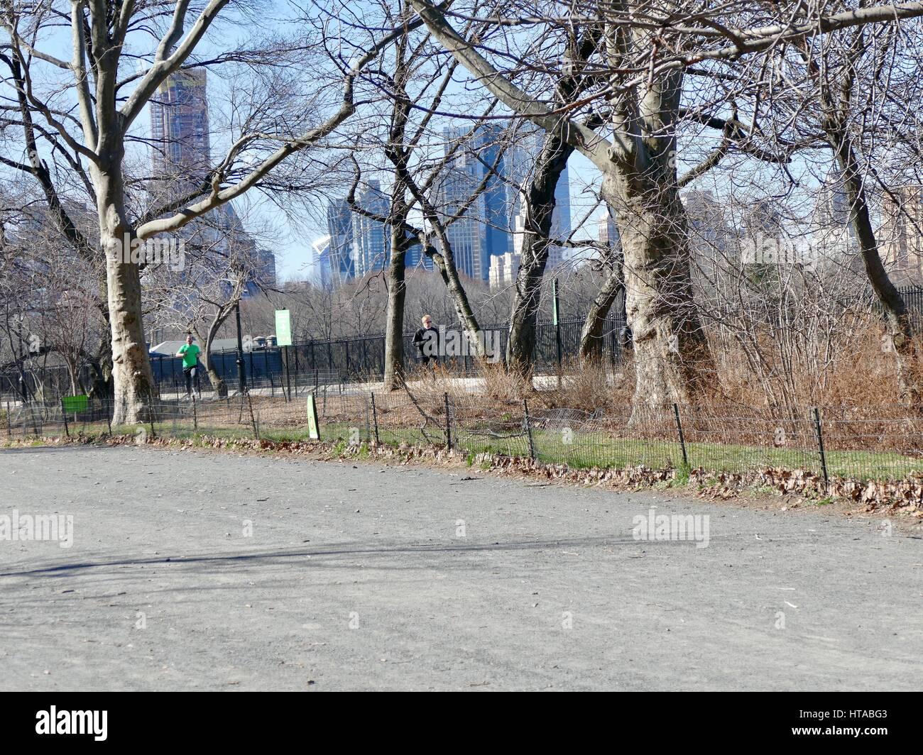 Central Park New York City Rain Stock Photos & Central Park New York
