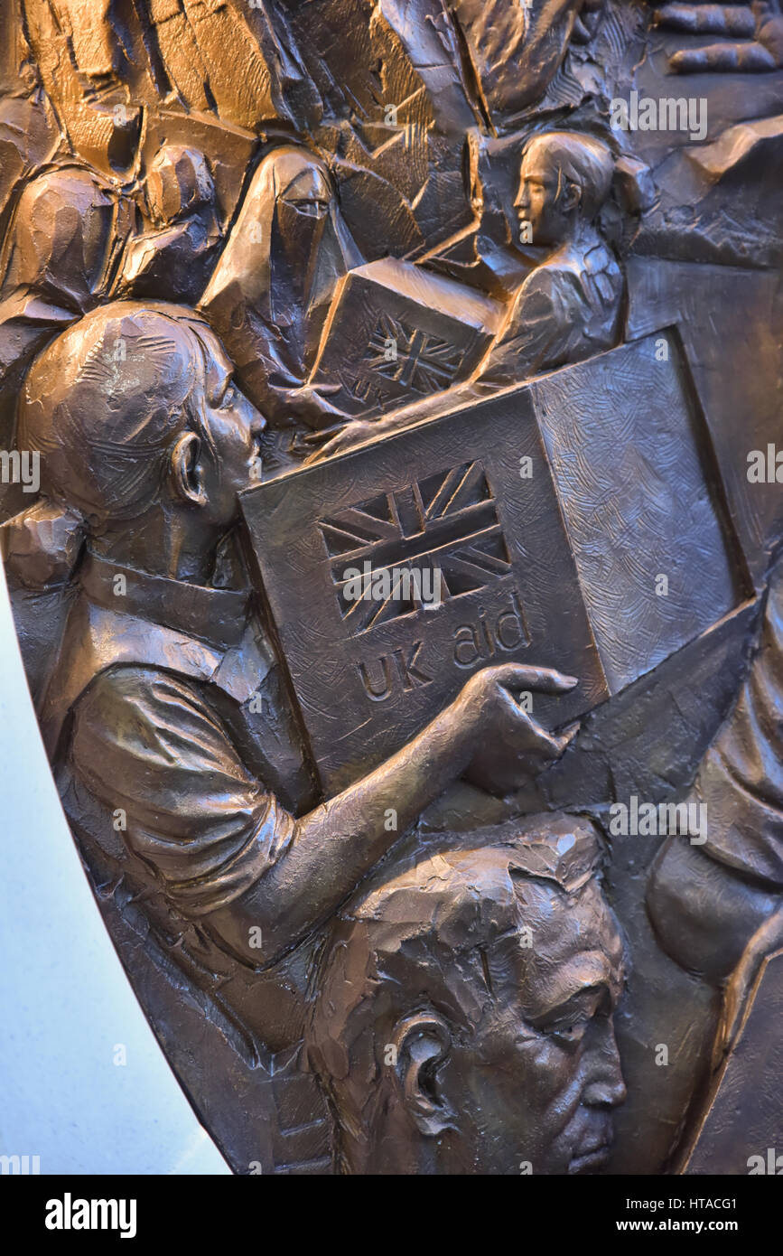 Victoria Embankment, London, UK. 9th March 2017. The new memorial  by artist Paul Day  dedicated to those who served - Stock Image