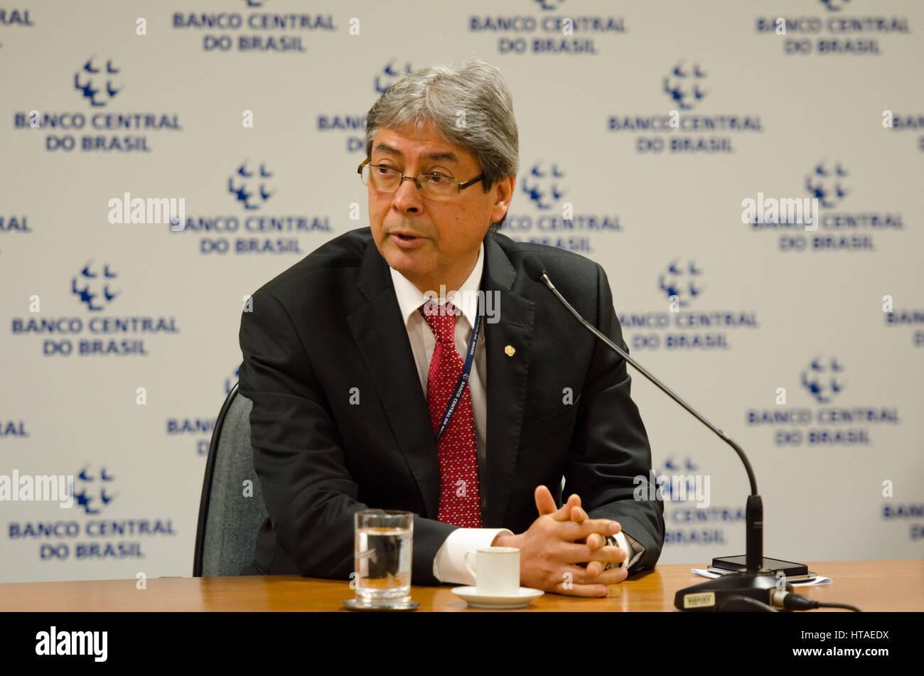 BRASÍLIA, DF - 09.03.2017: BC COMENTA MEDIDAS NOS CONTRATOS DE CAMBIO - At a news conference on Thursday (09/03) - Stock Image