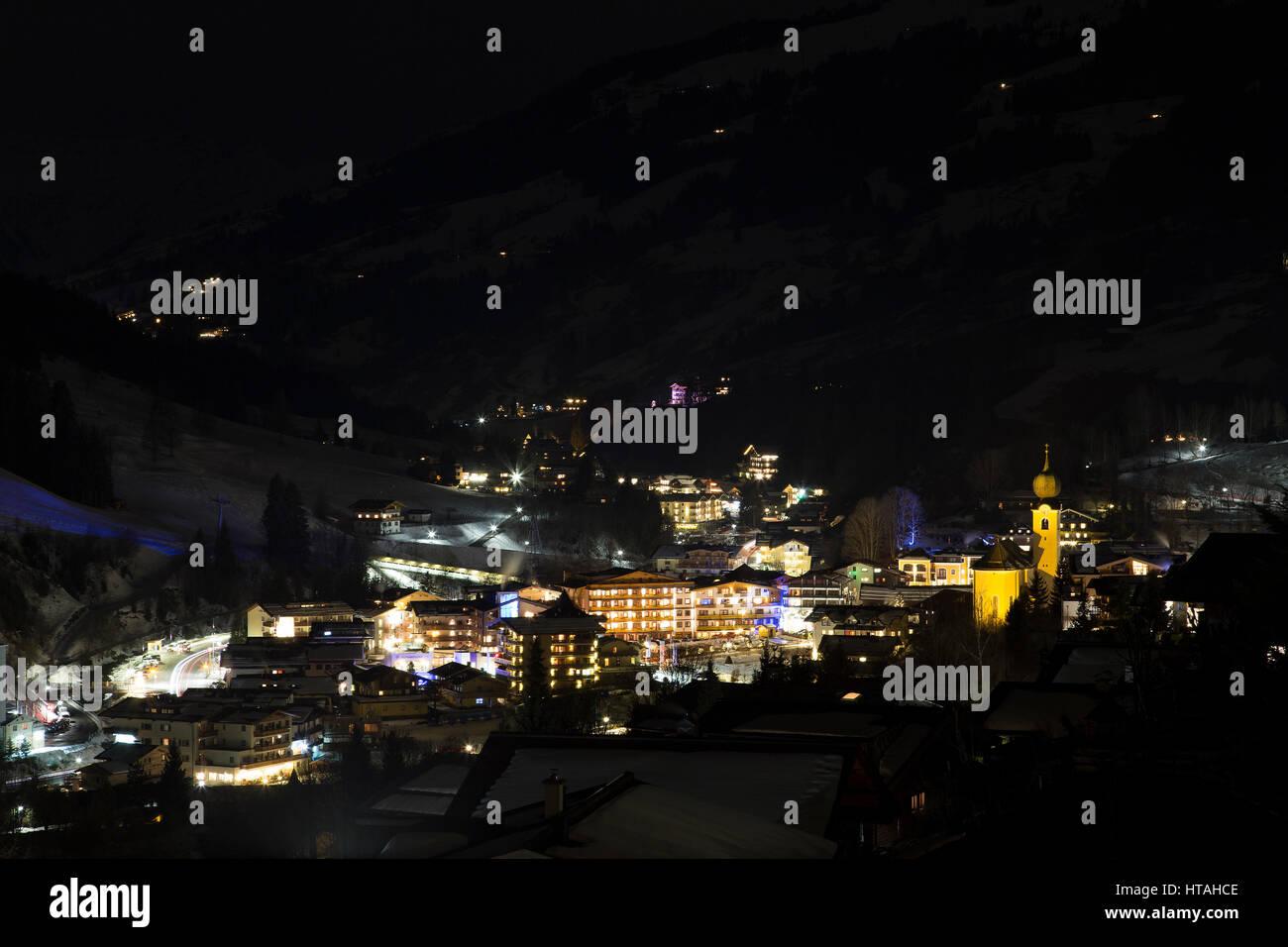 Saalbach - Austrian Ski Resort Stock Photo