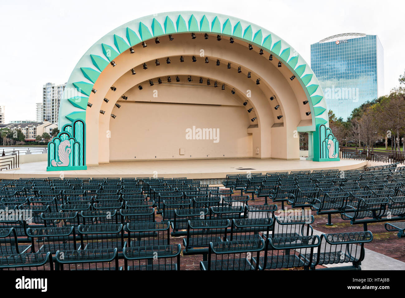 The Historic Walt Disney Amphitheater At Lake Eola Park In Orlando