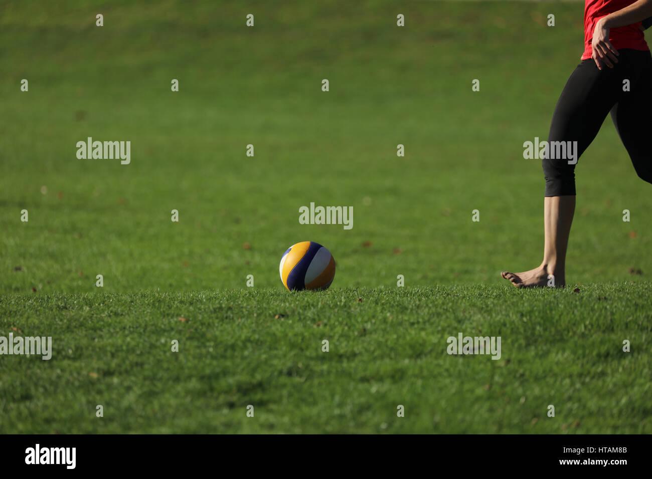 Volleyballspiel Volleyball - Stock Image