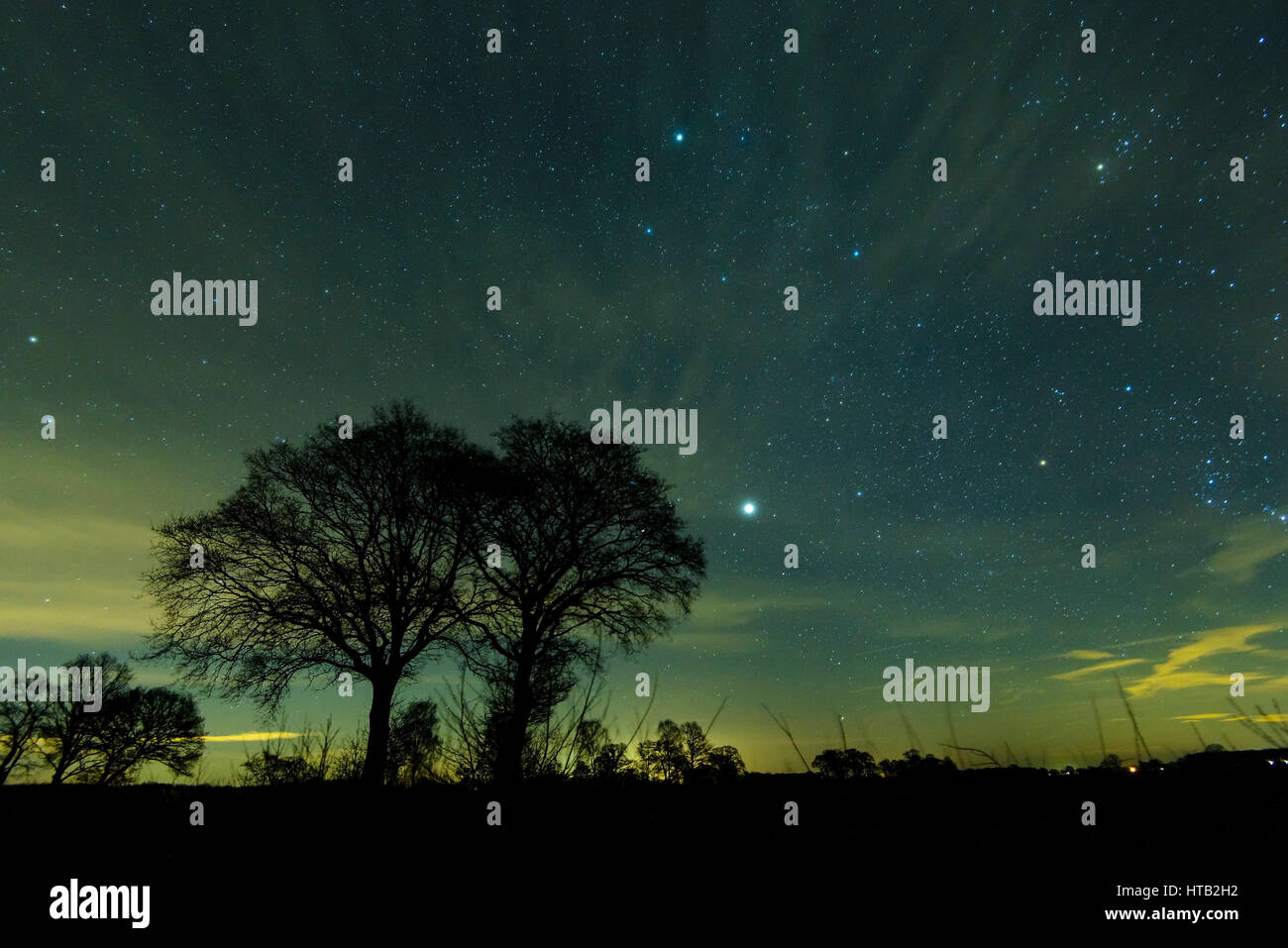 Natural photograph, star sky , Naturfotografie, Sternenhimmel Stock Photo