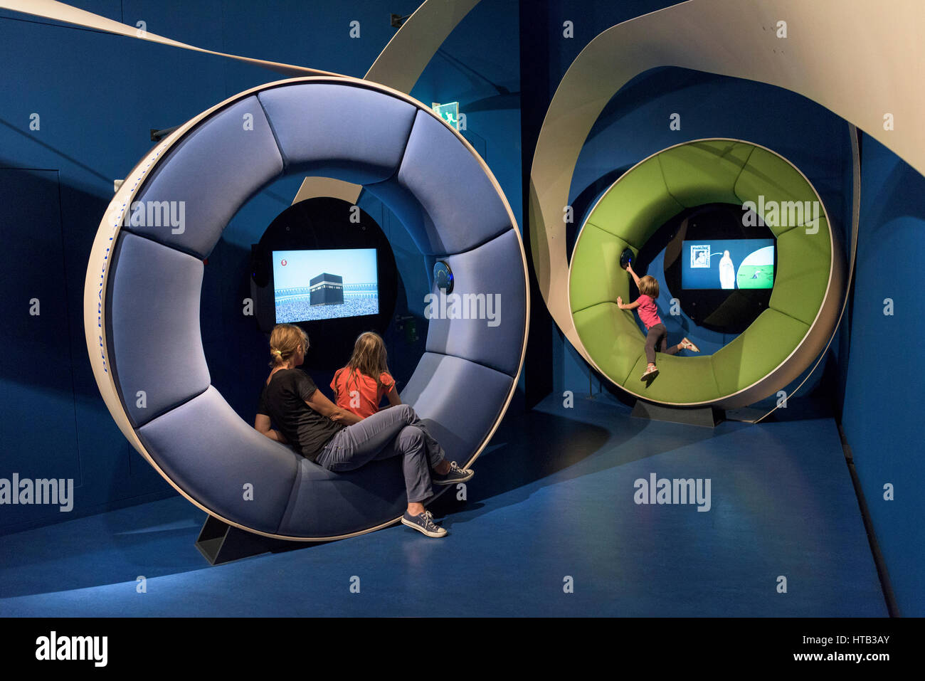 Berlin. Germany. Interactive exhibits at the Jewish Museum. - Stock Image