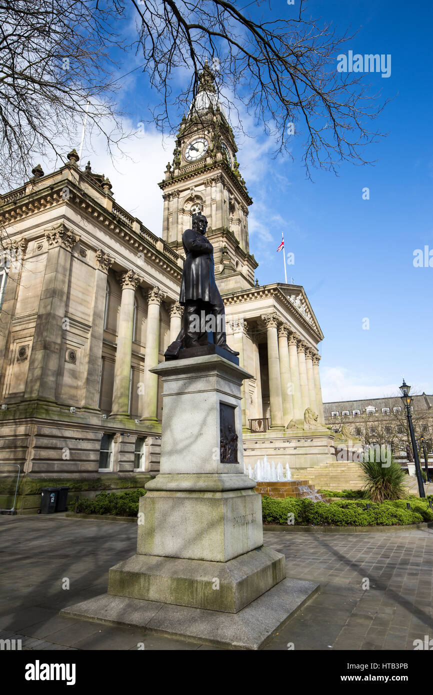 Bolton Town Hall . Bolton Town Centre, Bolton , England , UK - Stock Image