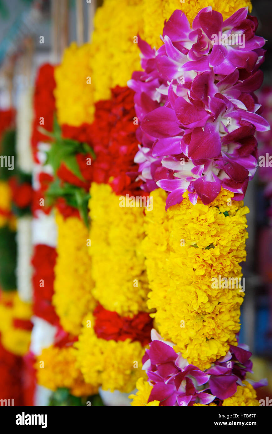 Indian Flower Garland High Resolution Stock Photography And Images Alamy