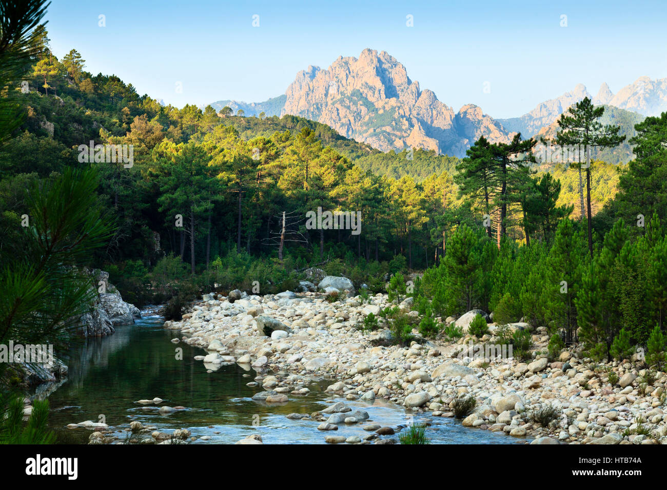 Mountains of Bavella, Corsica, France - Stock Image