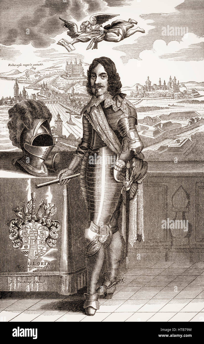 Bernhard Duke of Saxe-Weimar, 1604 - 1639, a general in the Thirty Years' War - Stock Image