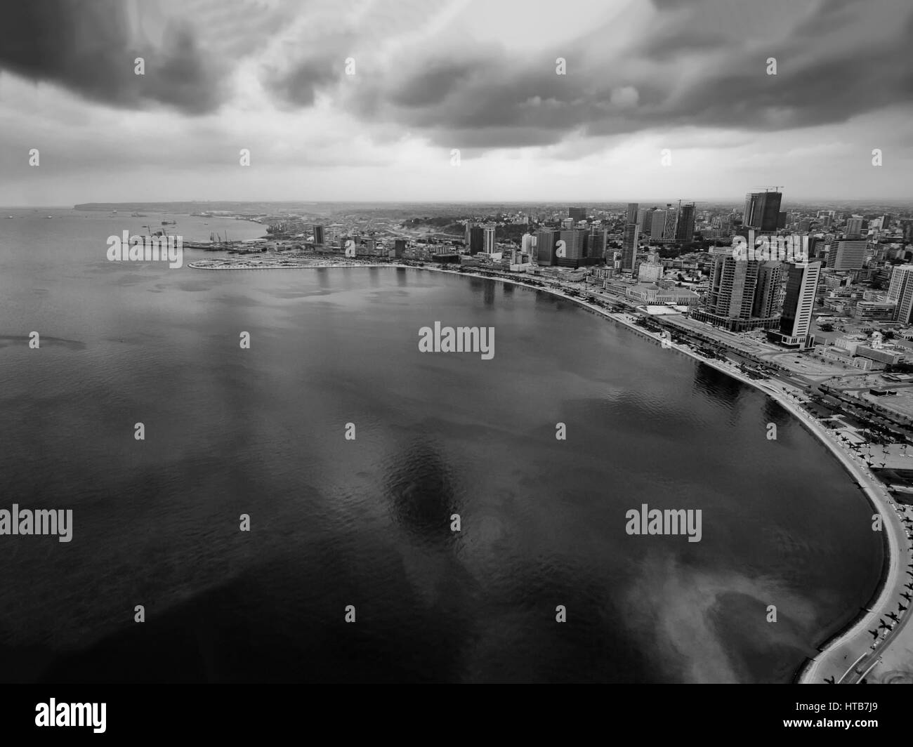 Bay of Luanda - Stock Image