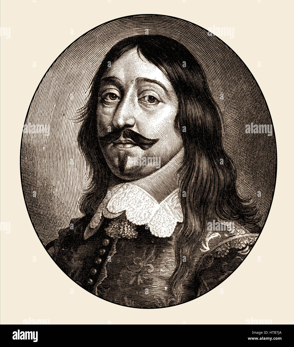 Johann VIII. Graf zu Sayn-Wittgenstein-Wittgenstein, 1601-1657, a German Earl as Swedish colonel, the Thirty Years' - Stock Image