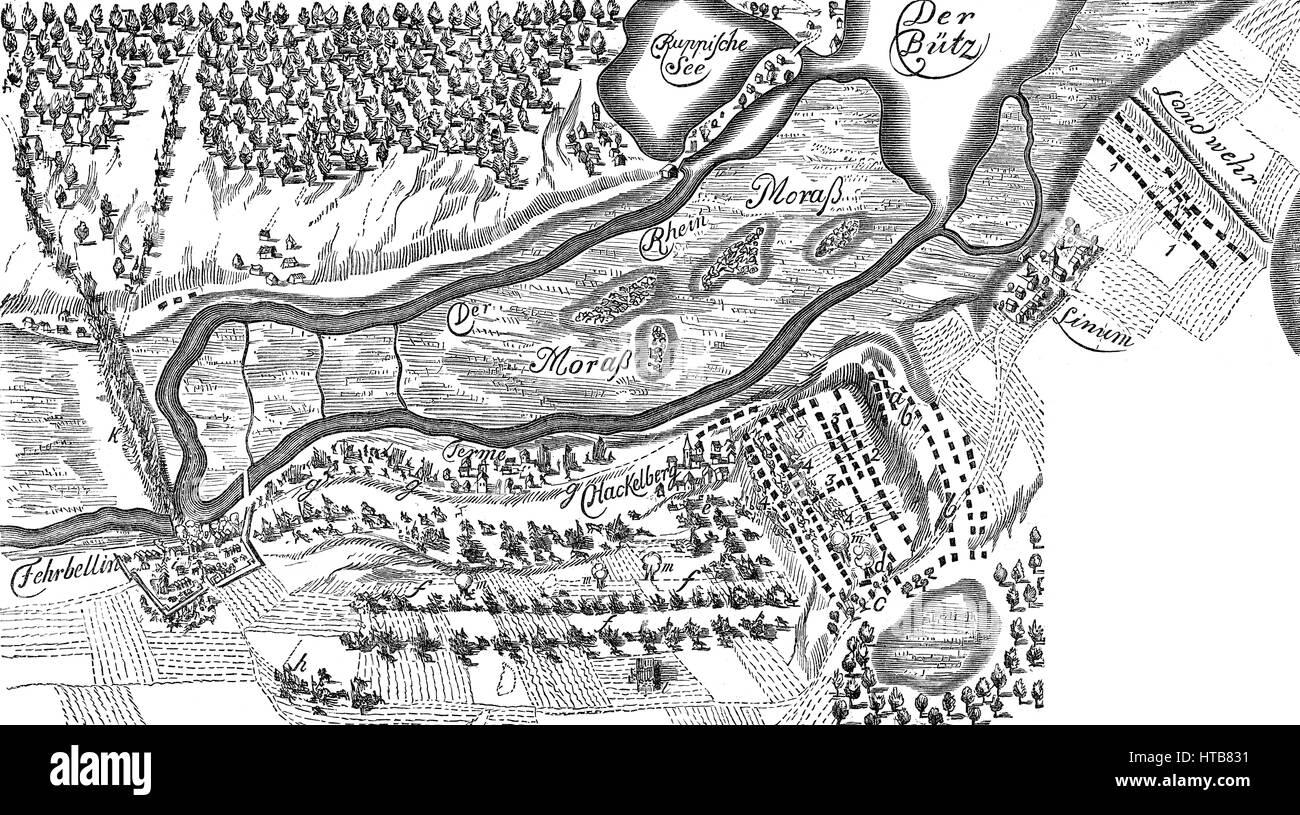 The Battle of Fehrbellin on June 18, 1675 - Stock Image