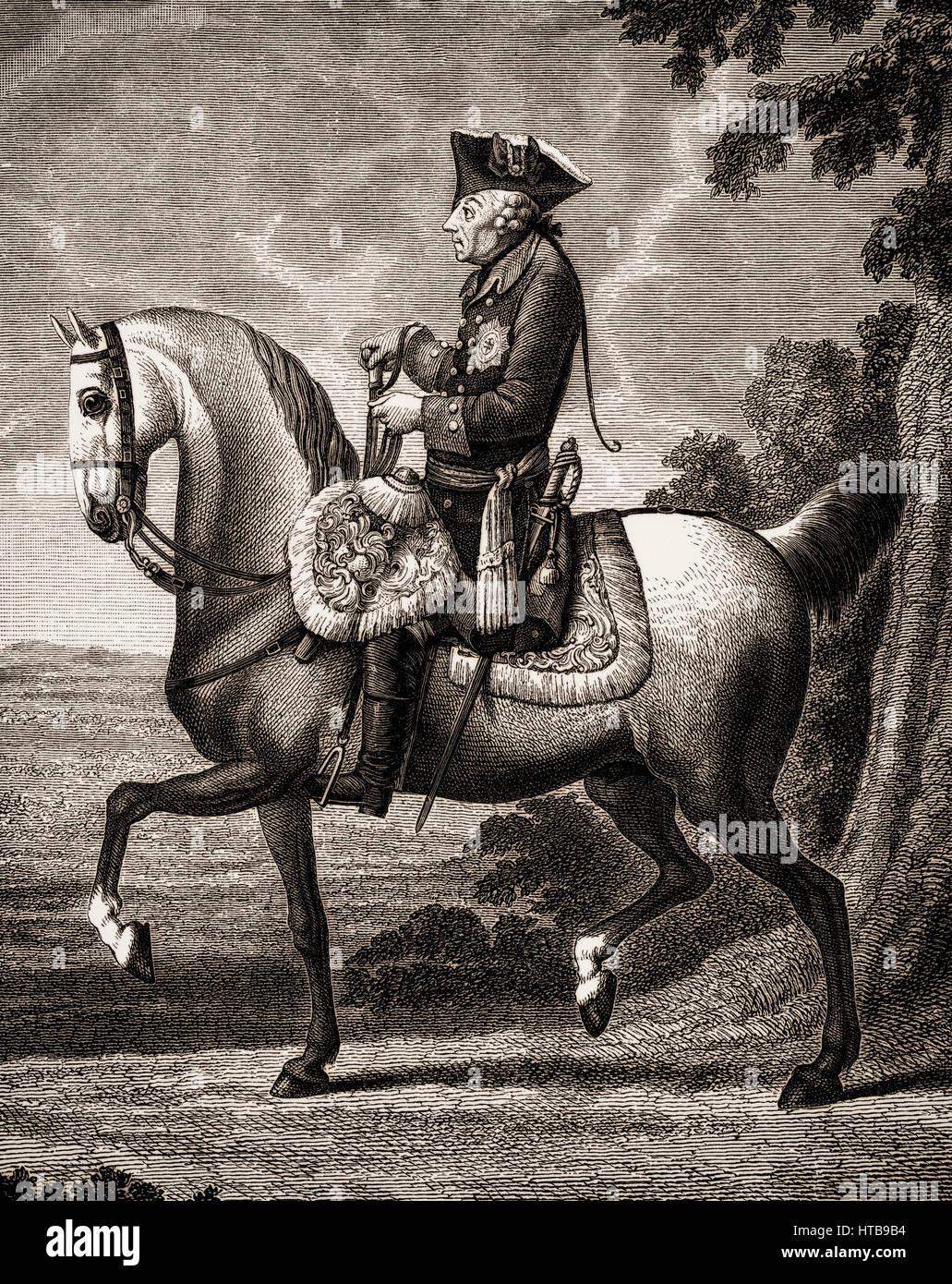 Frederick II, Friedrich II, Frederick the Great, 1712-1786, King of Prussia - Stock Image