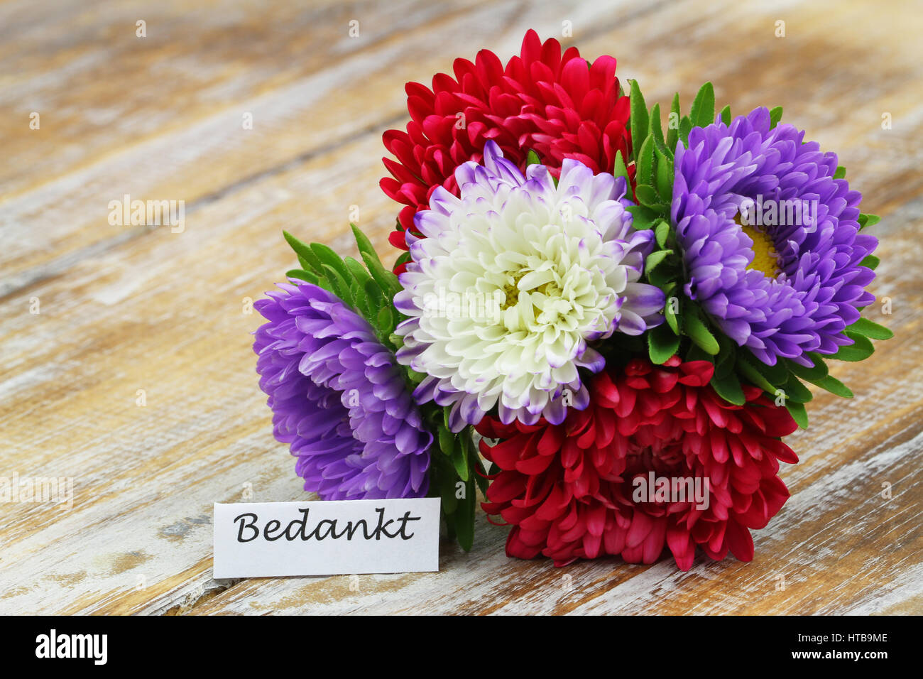Colorful Aster Bouquet Stock Photos & Colorful Aster Bouquet Stock ...