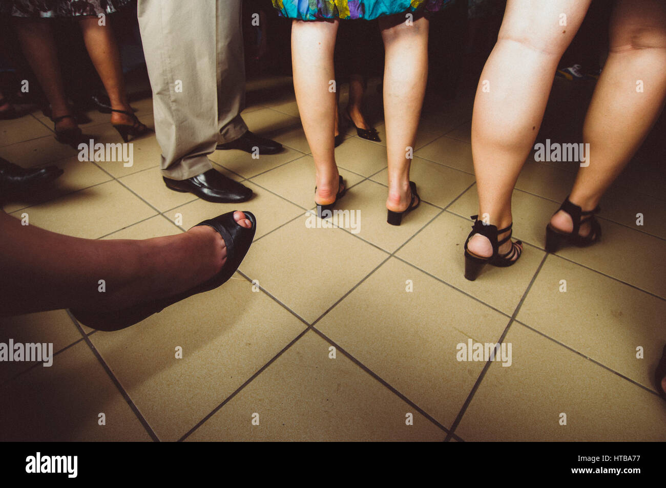 Group of people, detail legs - Stock Image