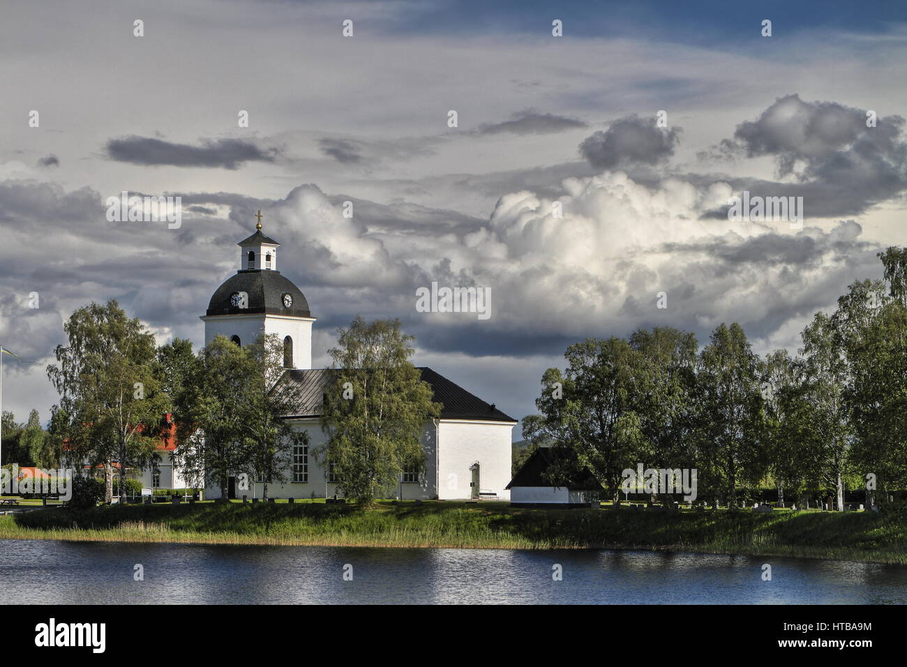 Church somewhere in the middle of Sweden - Stock Image