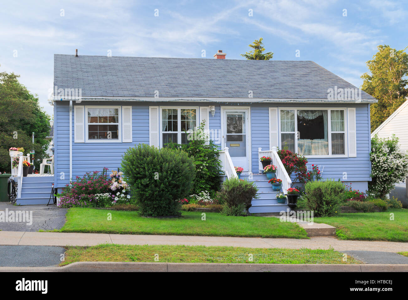 Well kept bungalow from the 60s or later. - Stock Image
