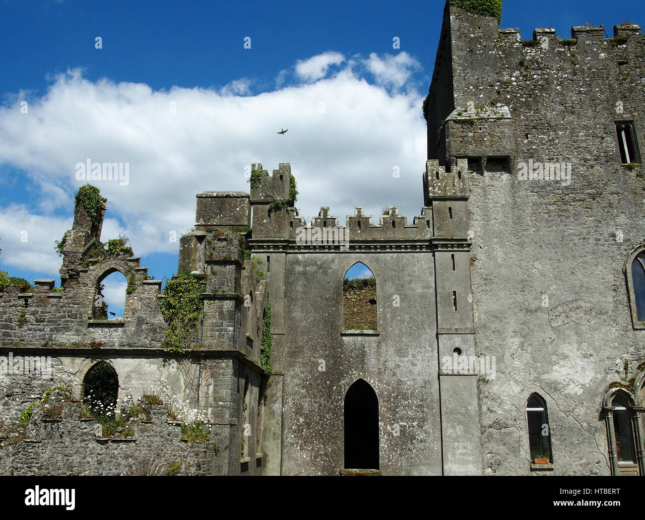 Leap castle is one of the most haunted castles in Ireland. - Stock Image