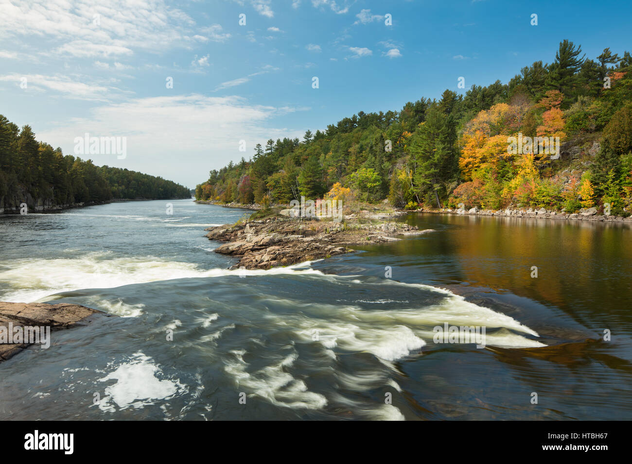 Recollet Falls, French River, Ontario, Canada - Stock Image