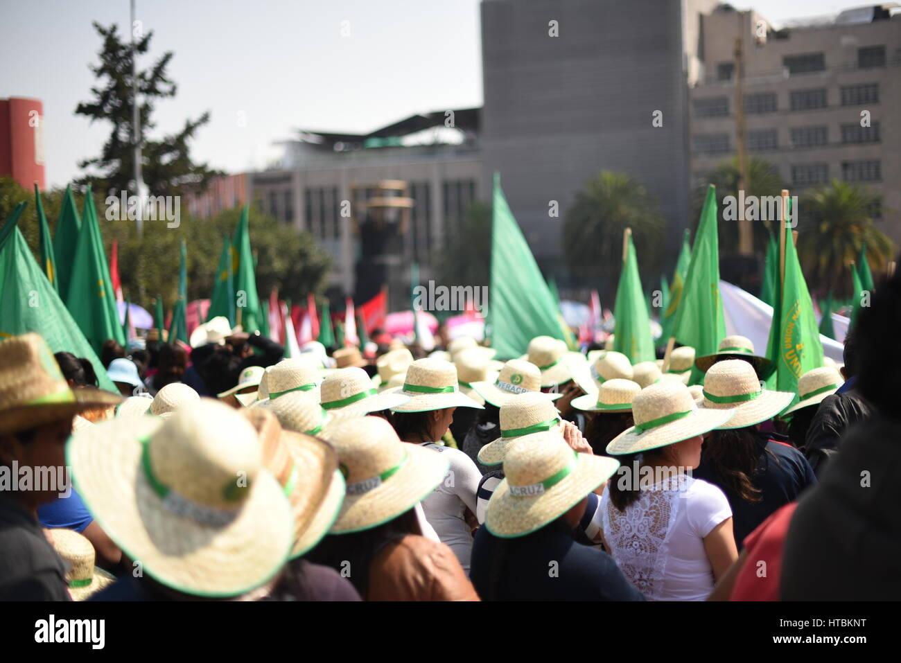 Manifestacion día de la mujer, CIudad de México, 8 de marzo 2017. - Stock Image
