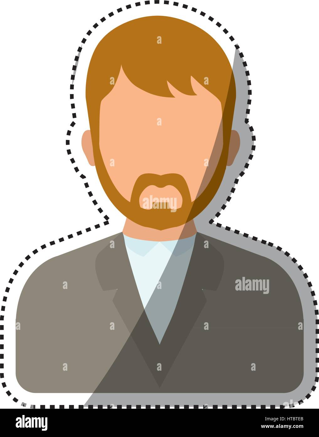 Men faceless profile - Stock Image