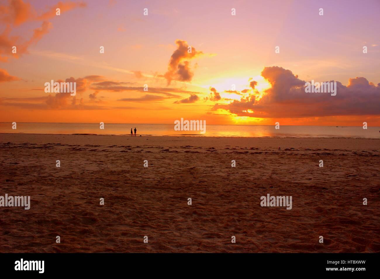 Sunrise at Diani beach - Stock Image