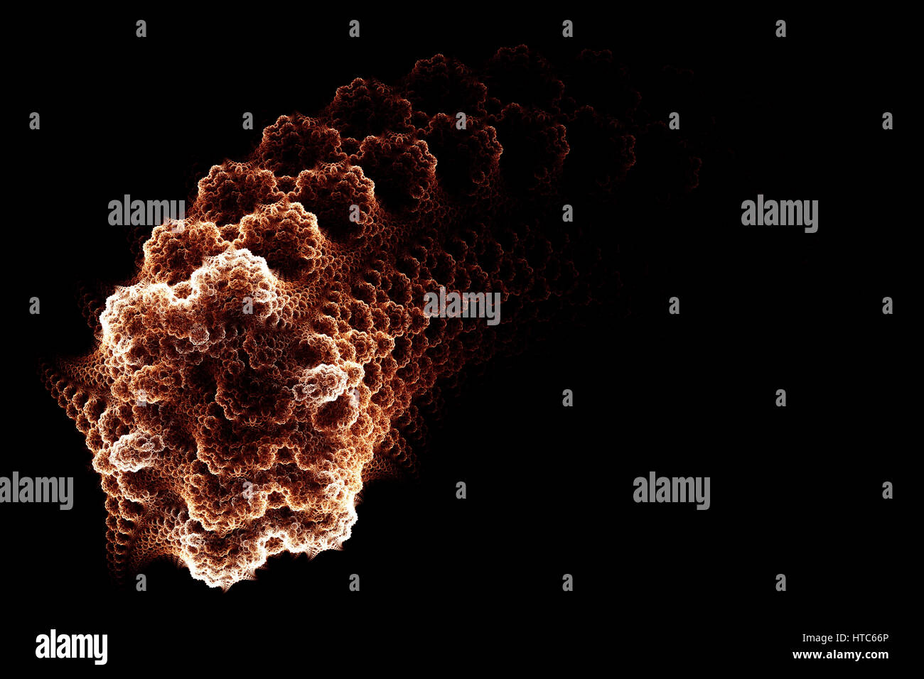 Red germ. Micro organism. Abstract background. Isolated on black background. - Stock Image